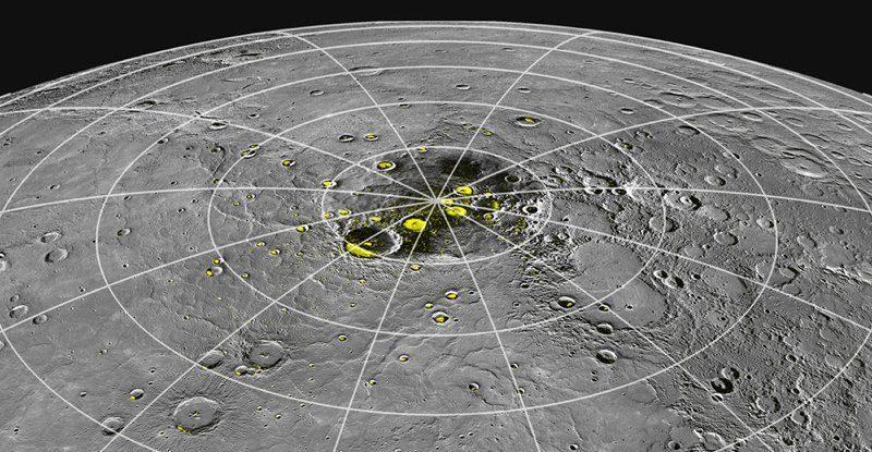 Меркурий производит лед, хотя это самая близкая к Солнцу планета