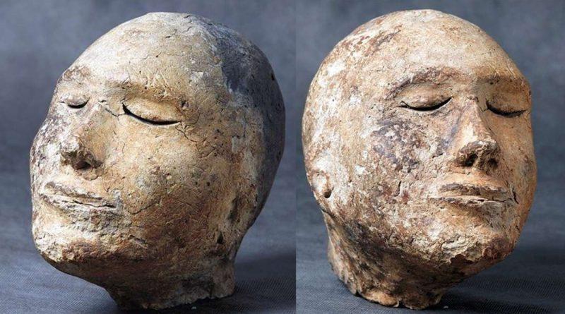 Внутри древней глиняной головы найден череп барана