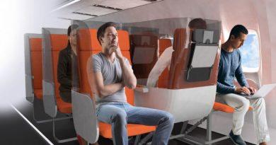 Полет после COVID-19: гигиенические экраны в салонах эконом-класса