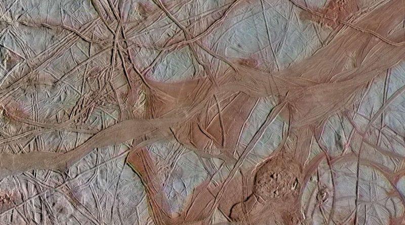 Фотографии Европы, ледяной Луны Юпитера