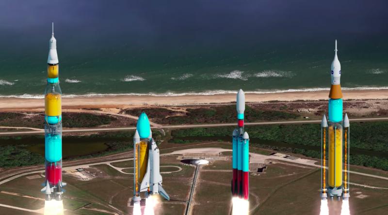 Это видео показывает, что бы вы увидели, если бы ракеты были прозрачными