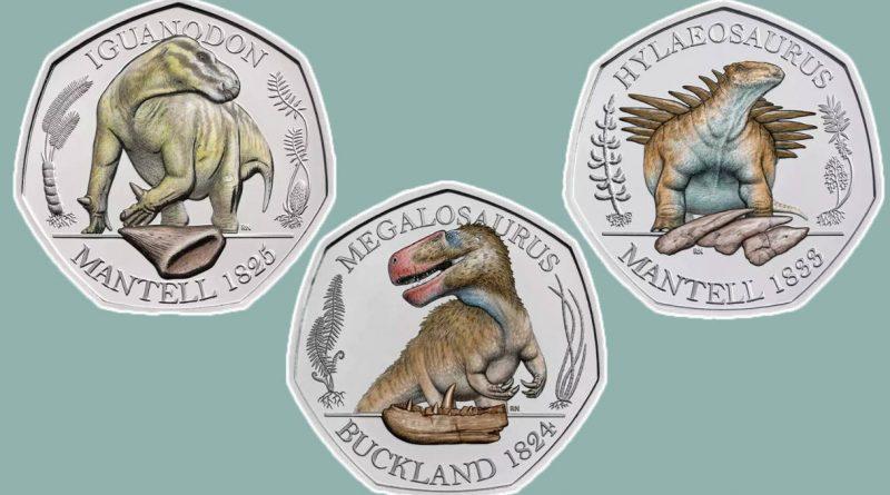 Три динозавра изображены на новых британских монетах