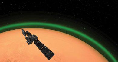Зеленое сияние впервые обнаружено в атмосфере Марса