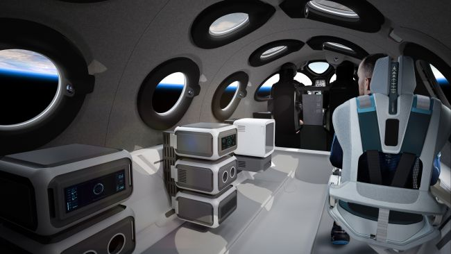 вид кабины SpaceShpTwo